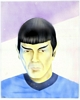 [ Painting of Mr. Spock by Dru Cole ]