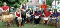 Secret Bass drumming group at Little Berkhamsted, photo by David Cory |