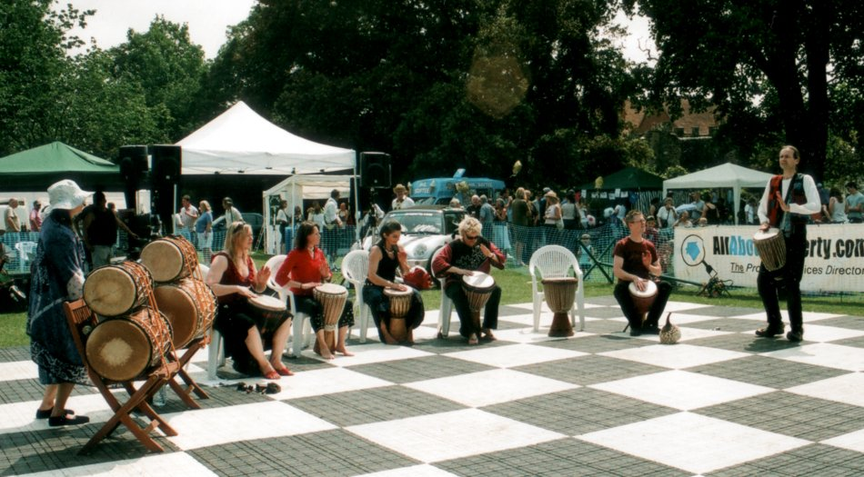 Secret Bass drummers at Hertford Fun Day |