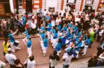 Toque Tambor samba parade in Hitchin High Street |