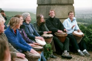 Vitae Drummers atop Coombe Hill |