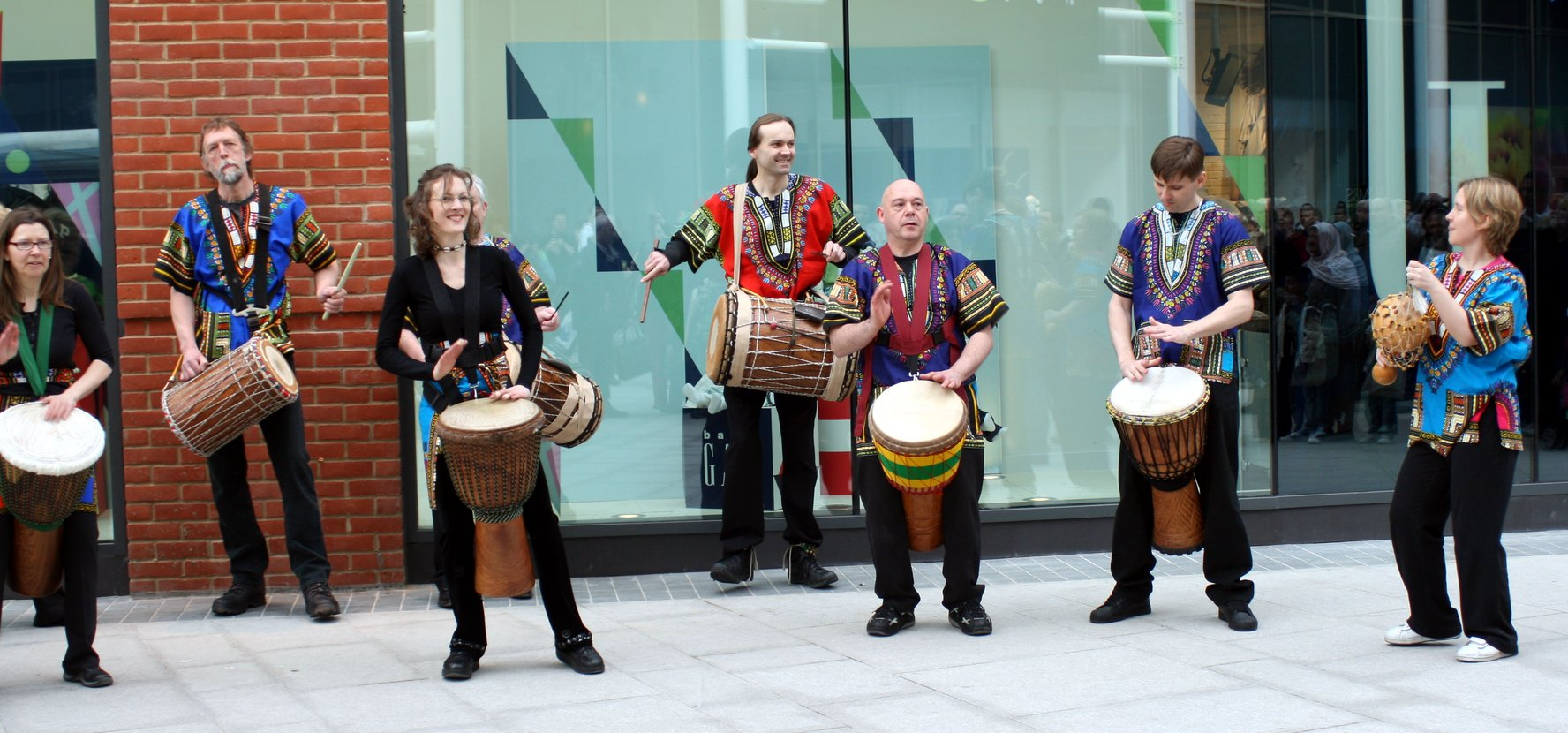 [ Vitae Drummers at Eden, photo by Sam Gill ]