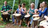 Vitae Drum Circle in Penn Woods, photo by Sasha Bradbury |