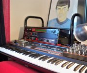 Roland JX-3P and PG200 with Spock above rack |