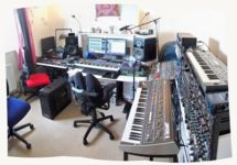 Sunny studio panorama from above |