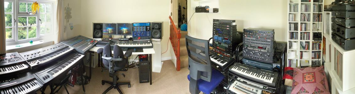 [ Studio panorama, looking good but still largely uncabled ]