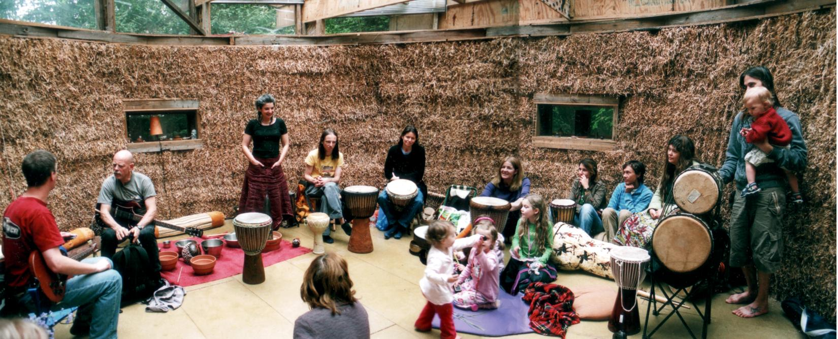 [ Music Children in The Strawbale Studio ]