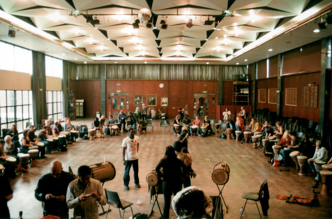 [ Mamady Keita djembe workshop at Wycombe RGS ]