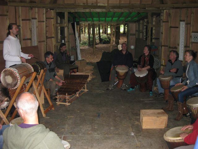 Playing Kedju in the Classroom at Mellowcroft ]