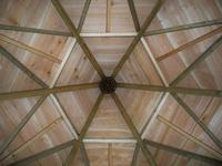 Looking up at The Classroom's stunning hexagonal roof |