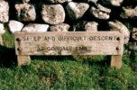 Sign warning of 'Steep and difficult descent' where I'd just climbed up Gordale Scar |
