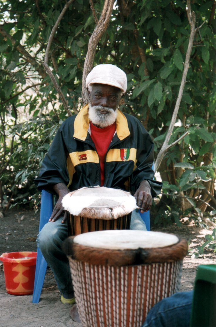 [ Djembe teacher in Senegal, Jean-Marie Keita ]