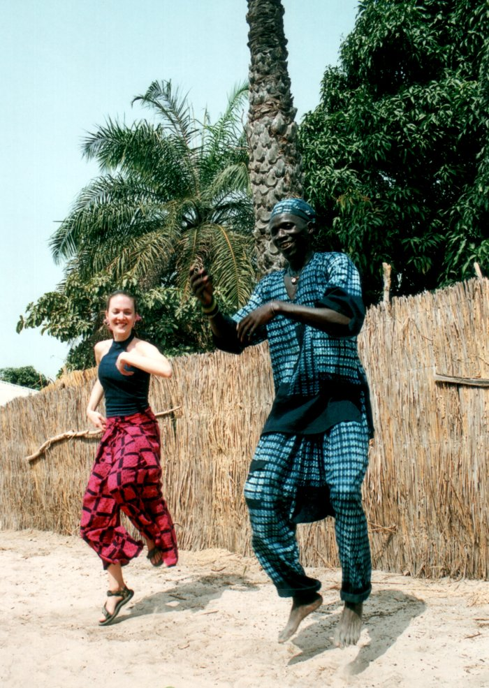 [ Appai teaching Justine how to fly Senegalese style ]
